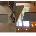 14 Marble countertop before - after