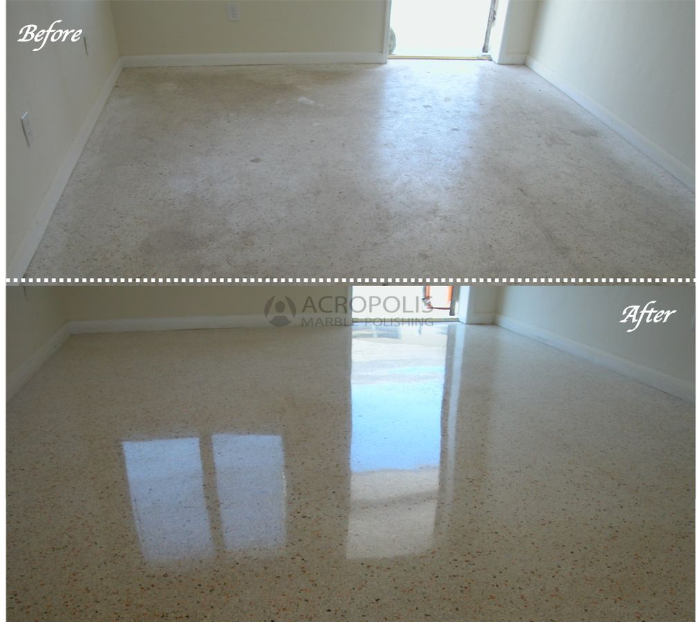 5 Terrazzo Before After Acropolis Marble Polishing Miami