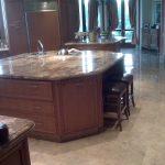 6 Granite countertop & marble floor