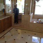 9 Marble bath top & floor